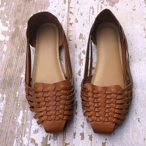 Old Navy Woven Flats Tan Brown Size 6
